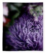 Exotic Purple Flower Fleece Blanket