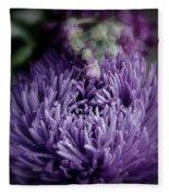 Exotic Purple Flower Two Fleece Blanket