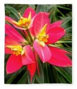 Exotic Red Flower Fleece Blanket
