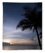 Exotic Sunrise Fleece Blanket