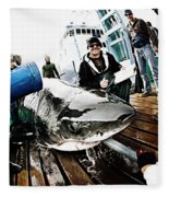 Expedition Great White Crew Conducts Fleece Blanket