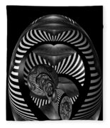 Exploration Into The Unknown Bw Fleece Blanket
