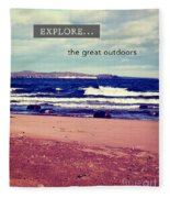 Explore The Great Outdoors Fleece Blanket