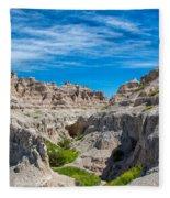 Exploring The Badlands Fleece Blanket