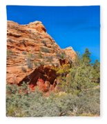 Exploring The Upper Plateau Of Zion Fleece Blanket