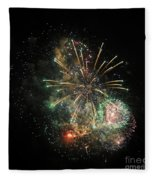 Explosion Of Color On Canada Day Fleece Blanket