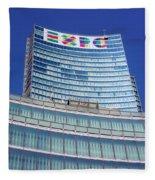 Expo 2015 Sign Fleece Blanket