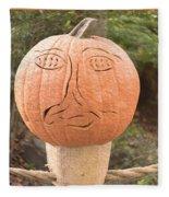 Expressive Pumpkin Fleece Blanket