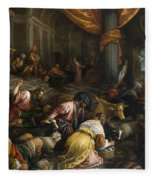 Expulsion Of The Merchants From The Temple Fleece Blanket