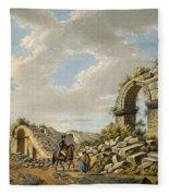 Exterior Of The Ruined Roman Theatre Fleece Blanket