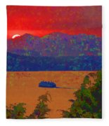 Extreme Sunset Fleece Blanket