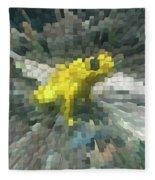 Extrude Yellow Frog Fleece Blanket