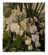 Exuberant Orchid Display Fleece Blanket