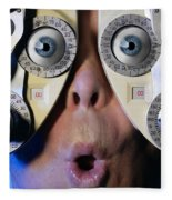 Eye Exam Fleece Blanket