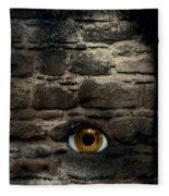 Eye In Brick Wall Fleece Blanket
