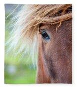 Eye Of A Pony Fleece Blanket