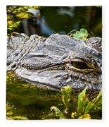 Eye Of The Alligator Fleece Blanket