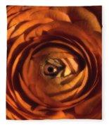 Eye Of The Bloom Fleece Blanket
