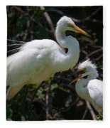 Eye Of The Egret Fleece Blanket