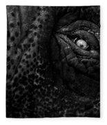 Eye Of The Elephant Fleece Blanket