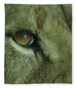 Eye Of The Lion Fleece Blanket