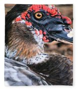 Eye Of The Muscovy Duck Fleece Blanket