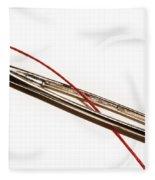 Eye Of The Needle Fleece Blanket