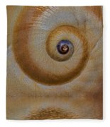 Eye Of The Snail Fleece Blanket