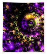Eye Of The Swirling Dream Fleece Blanket