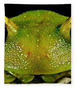 Eye-ringed Bushfrog Fleece Blanket