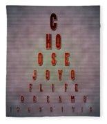 Eyechart Inspiring Typography Art Fleece Blanket