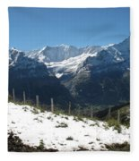 Eyeful Of The Eiger Fleece Blanket