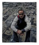 Eyes Down From The 103rd Floor Just Sitting Around Fleece Blanket