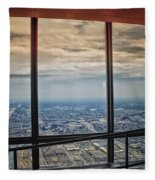 Eyes Down From The 103rd Floor Looking South Fleece Blanket