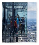 Eyes Down From The 103rd Floor Neighbors Fleece Blanket