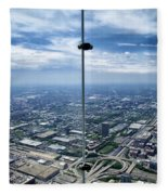 Eyes Down From The 103rd Floor The View From The Ledge Fleece Blanket