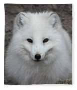 Eyes Of The Arctic Fox Fleece Blanket
