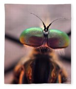 Eyes Of The Robber Fly Fleece Blanket