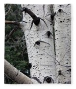 Eyes Of The Trees Fleece Blanket