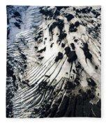 Eyjafjallajokull Glacier And Ashes Fleece Blanket
