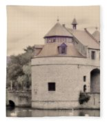 Ezelport City Gate In Bruges Fleece Blanket