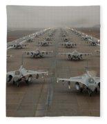 F-16 Fighting Falcons, Kunsan Air Base Fleece Blanket