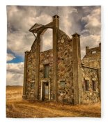 F. Schott Stone Barn  Fleece Blanket