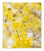 Fabulous Forsythia Fleece Blanket