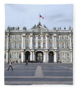 Facade Of A Museum, State Hermitage Fleece Blanket