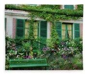 Facade Of Claude Monets House, Giverny Fleece Blanket