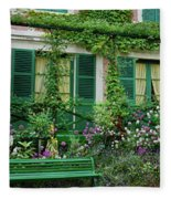 Facade Of Claude Monets House, Giverny Fleece Blanket
