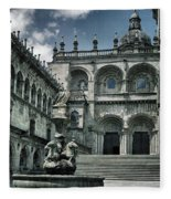 Facade Of The Silverware In Santiago De Compostela Fleece Blanket