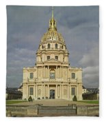 Facade Of The St-louis-des-invalides Fleece Blanket