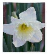 Face Of A Daffodil Fleece Blanket